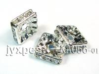 3.5x3.5x10mm  Square Shape White  Zircon Spacer    KA056-01