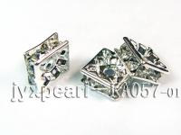 4x8x8mm  Square Shape White  Zircon Spacer    KA057-01