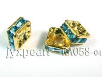 3.5x7x7mm  Square Shape Green  Zircon Spacer    KA058-04
