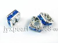 3.5x7x7mm Square Shape blue Zircon Spacer  KA058-06