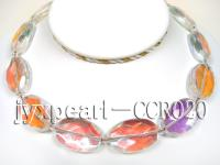 Colorful Faceted Crystal Beads Necklace CCR020