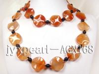 25mm red irregular agate necklace AGN168