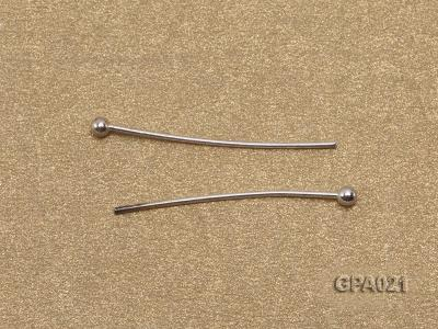0.5x20mm Silver Plated Copper Needles GPA021 Image 2