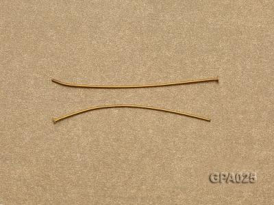 0.7x40mm T-shaped Gold Plated Copper Needles GPA025 Image 2
