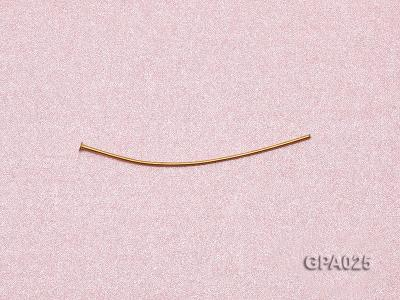 0.7x40mm T-shaped Gold Plated Copper Needles GPA025 Image 3