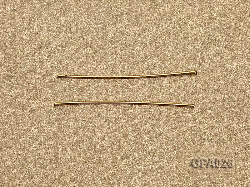 1x40mm T-shaped Gold Plated Copper Needles big Image 3
