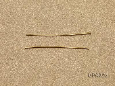 1x40mm T-shaped Gold Plated Copper Needles GPA026 Image 3