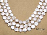 Wholesale 16x16mm Classic White Coin-shaped Cultured Freshwater Pearl String BCW106