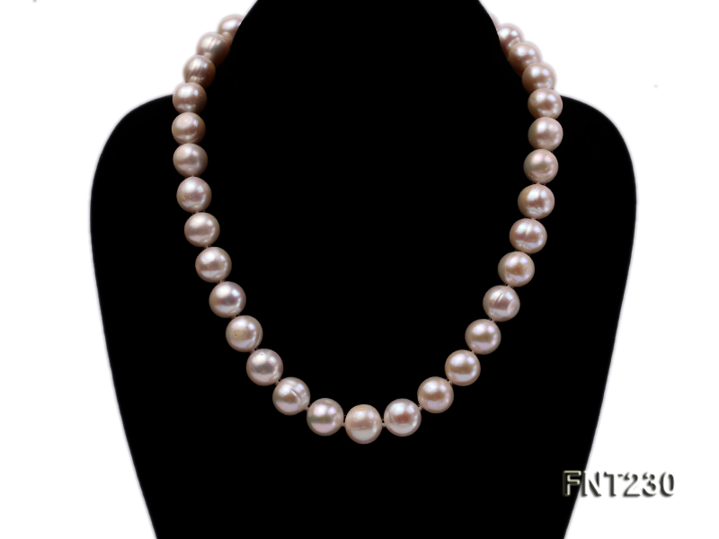 11.5-13.5 mm White Round Freshwater Pearl Necklace and Bracelet Set  big Image 2