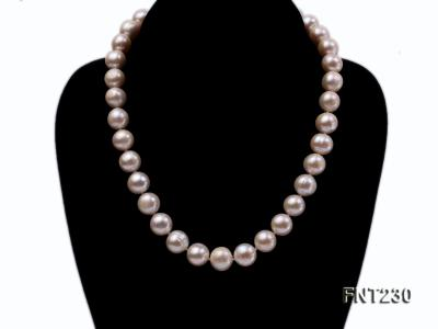 11.5-13.5 mm White Round Freshwater Pearl Necklace and Bracelet Set  FNT230 Image 2