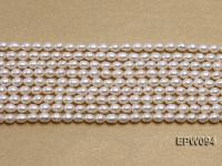 Wholesale 4.5x5.5mm Classic White Rice-shaped Freshwater Pearl String EPW094