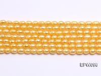Wholesale A-grade 5.5x6.5mm Pink Rice-shaped Freshwater Pearl String EPW096