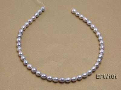 Wholesale 8X10mm Natural Rice-shaped Freshwater Pearl String EPW101 Image 4