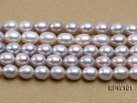 Wholesale 8X10mm Natural Rice-shaped Freshwater Pearl String EPW101