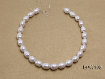 Wholesale Super-size 12.5x15mm Classic White Rice-shaped Freshwater Pearl String EPW105 Image 3