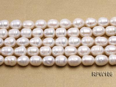 Wholesale A-grade 10.5x12.5mm White Rice-shaped Pearl String EPW106 Image 2