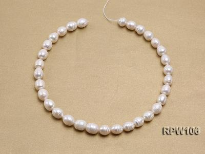 Wholesale A-grade 10.5x12.5mm White Rice-shaped Pearl String EPW106 Image 3