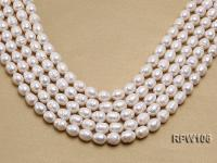 Wholesale A-grade 10.5x12.5mm White Rice-shaped Pearl String EPW106