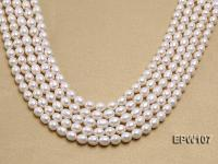 Wholesale 8x9mm Classic White Rice-shaped Freshwater Pearl String EPW107