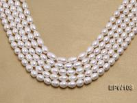 Wholesale A-grade 9x11mm Classic White Rice-shaped Freshwater Pearl String EPW108