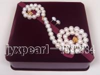 12-14.5mm white round freshwater pearl necklace,bracelet and earring set FNT234
