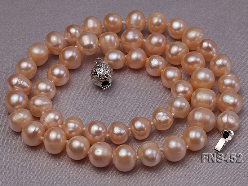 7.5-8.3mm Natural Pink Rice Freshwater Pearl Necklace big Image 5