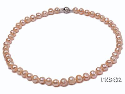 7.5-8.3mm Natural Pink Rice Freshwater Pearl Necklace FNS452 Image 1
