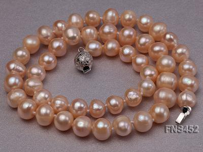 7.5-8.3mm Natural Pink Rice Freshwater Pearl Necklace FNS452 Image 5