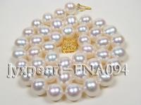 natural white freshwater pearl round shape Super Quality Necklace FNA094