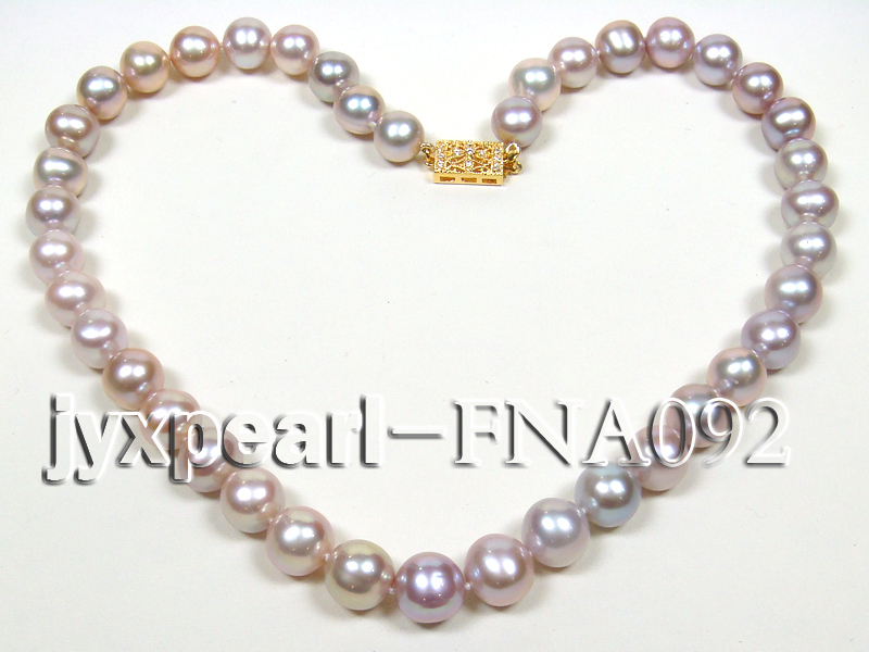 Classic 10-11mm Lavender Round Cultured Freshwater Pearl Necklace big Image 4