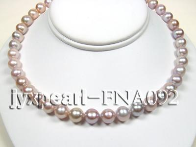 Classic 10-11mm Lavender Round Cultured Freshwater Pearl Necklace FNA092 Image 3
