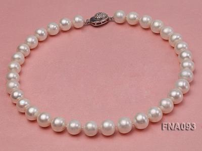 Classic 12-13mm AAA White Round Cultured Freshwater Pearl Necklace FNA093 Image 1