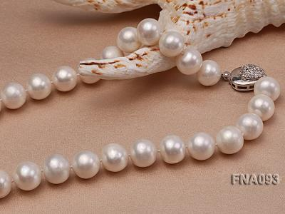 Classic 12-13mm AAA White Round Cultured Freshwater Pearl Necklace FNA093 Image 4