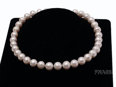 Classic 12-13mm AAA White Round Cultured Freshwater Pearl Necklace FNA093 Image 6