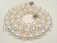 natrual 8.5-9.5mm white round freshwater pearl necklace  RPN132