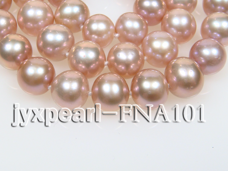 Classic 8.5-9.5mm Lavender Round Cultured Freshwater Pearl Necklace big Image 2