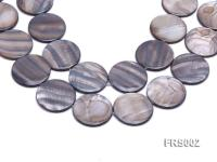 Wholesale 35mm Grey Disc-shaped Freshwater Shell String FRS002