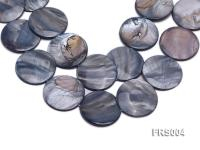 Wholesale 40mm Grey Disc-shaped Freshwater Shell String FRS004