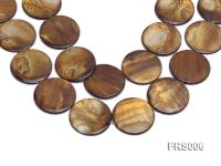 Wholesale 40mm Brown Disc-shaped Freshwater Shell String FRS006