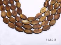 Wholesale 15x25mm Brown Oval Freshwater Shell String FRS011