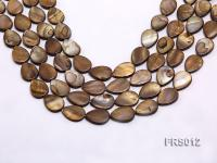 Wholesale 13x18mm Brown Teardrop Freshwater Shell String FRS012