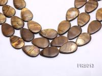 Wholesale 20x30mm Brown Teardrop Freshwater Shell String FRS013