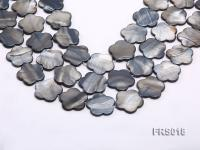 Wholesale 25mm Grey Flower-shaped Freshwater Shell String FRS018