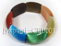 20x30mm colorful  flat round Cat's  Eye Bracelet CEB001