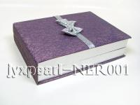 Lavender Jewelry Set Box with an Argent Bowknot NER001