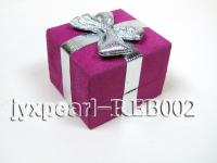 Rosy Suede Fabric Ring & Earring Box with an Argent Bowknot REB002