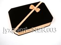 Dark Coffee Velvet Jewelry Set Box with a Golden Bowknot NER003