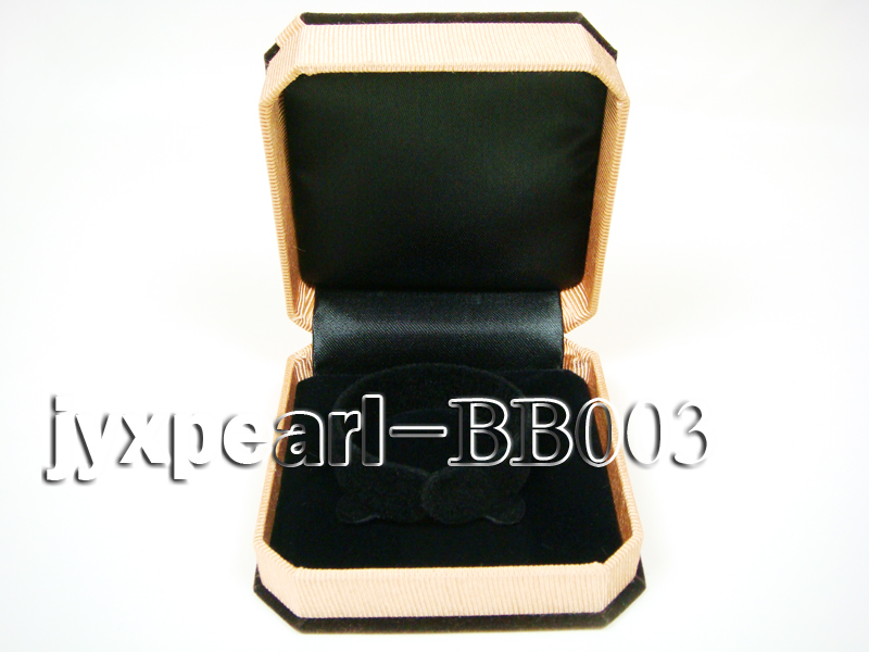 Coffee Velvet Bracelet Box with a Golden Bowknot big Image 3