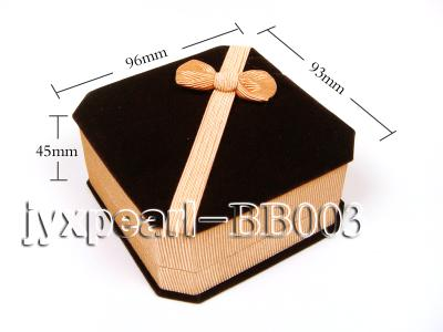 Coffee Velvet Bracelet Box with a Golden Bowknot BB003 Image 2