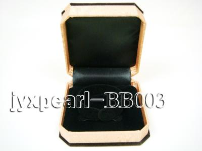 Coffee Velvet Bracelet Box with a Golden Bowknot BB003 Image 3